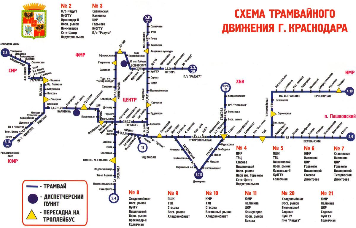 маршруты трамваев схемы